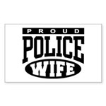 Proud Police Wife Rectangle Sticker
