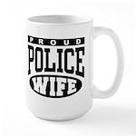 Proud Police Wife Large Mug