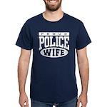 Proud Police Wife Dark T-Shirt