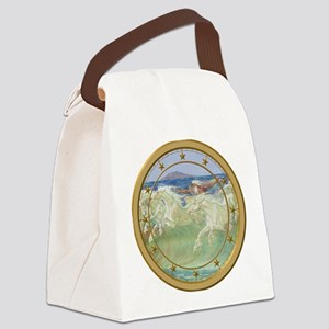 NEPTUNE HORSES CLOCK 3 Canvas Lunch Bag