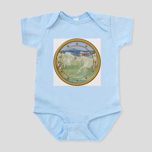 NEPTUNE HORSES CLOCK 3 Infant Bodysuit