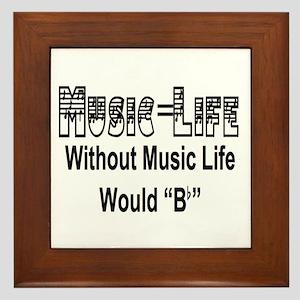 Music=Life Framed Tile