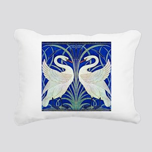 THE SWANS Rectangular Canvas Pillow