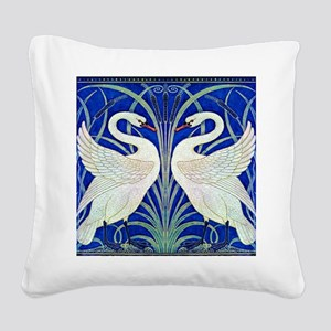 THE SWANS Square Canvas Pillow