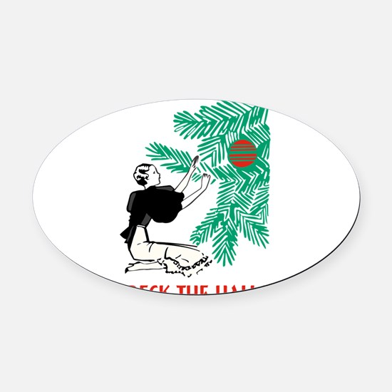 2-tree copy.png Oval Car Magnet