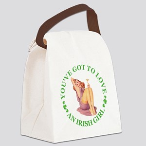 gotta love an IRISH GIRL copy Canvas Lunch Bag