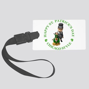 2-IRISH chicago style 2 copy Large Luggage Tag