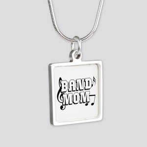 Band Mom Silver Square Necklace