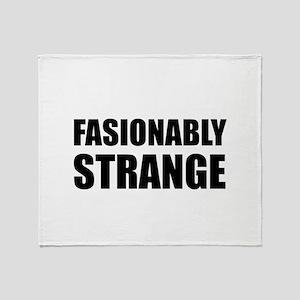 Fashionably Strange Throw Blanket