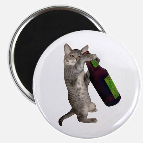 Cat Beer Magnet