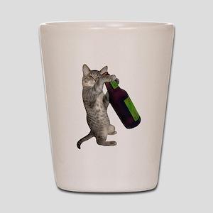 Cat Beer Shot Glass
