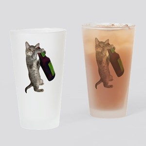 Cat Beer Drinking Glass