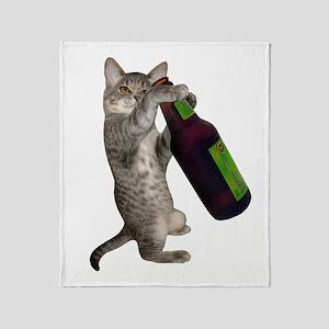 Cat Beer Throw Blanket