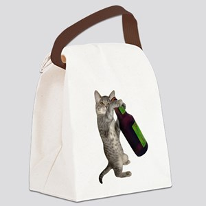 Cat Beer Canvas Lunch Bag