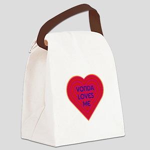 Vonda Loves Me Canvas Lunch Bag