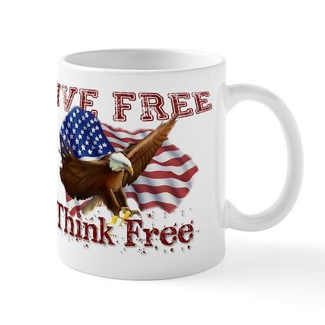 Live Free, Think Free Mug