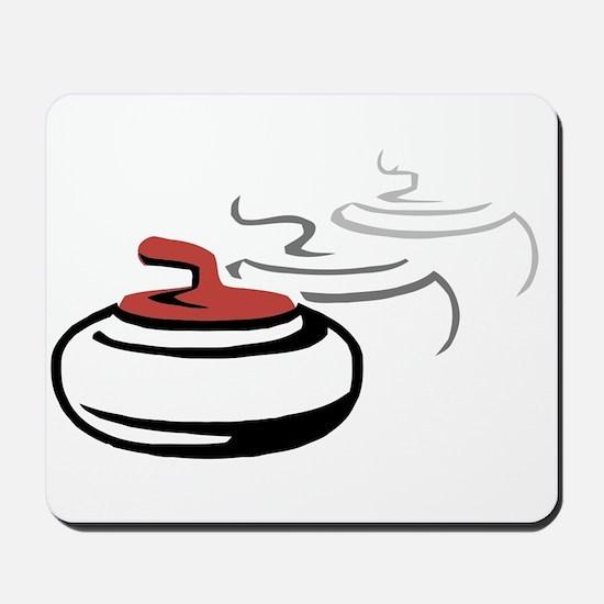 # Curling Stone Motif Mousepad