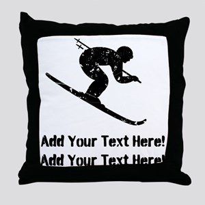 Personalize It, Skier Throw Pillow