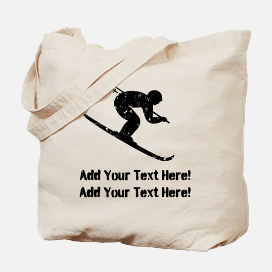 Personalize It, Skier Tote Bag