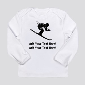 Personalize It, Skier Long Sleeve T-Shirt