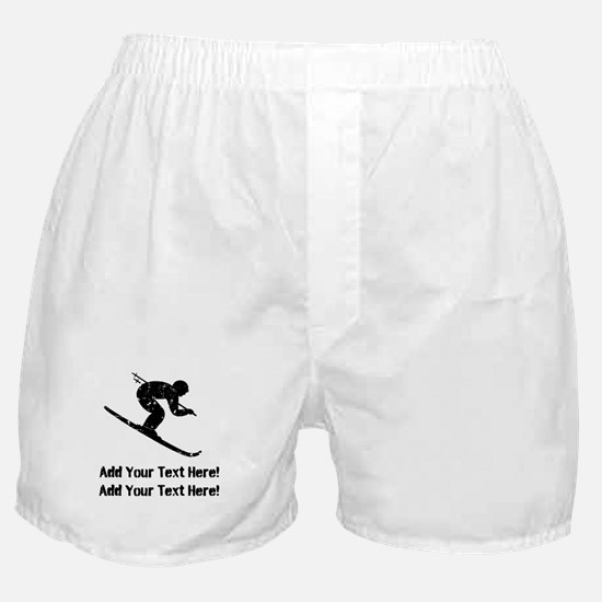 Personalize It, Skier Boxer Shorts