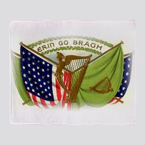 Erin Go Bragh Irish Flags Throw Blanket