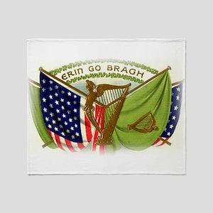 Erin go bragh blankets cafepress erin go bragh irish flags throw blanket m4hsunfo