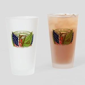 Erin Go Bragh Irish Flags Drinking Glass