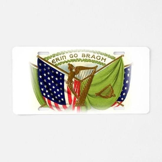 Erin Go Bragh Irish Flags Aluminum License Plate