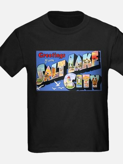 Salt Lake City Utah Greetings Ash Grey T-Shirt