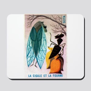 The Cicada and The Ant Matchbox French Label Mouse