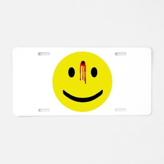 Cute Smileys Aluminum License Plate