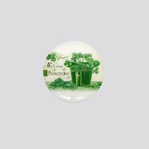 Vintage Green St Patricks Day Shamrock Hat Mini Bu