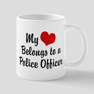 My Heart Belongs to a Police Officer Mug