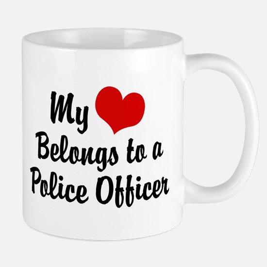My Heart Belongs to a Police Officer Mug