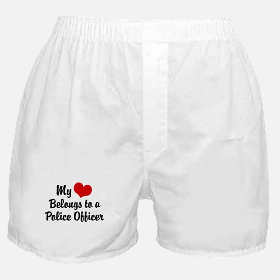My Heart Belongs to a Police Officer Boxer Shorts