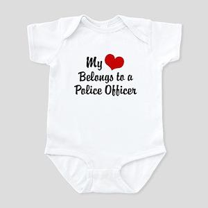 My Heart Belongs to a Police Officer Infant Bodysu