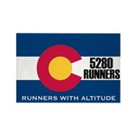 5280 Runners Rectangle Magnet