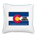 5280 Runners Square Canvas Pillow