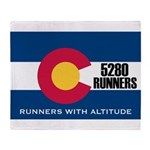 5280 Runners Throw Blanket