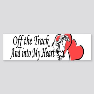 Off The Track and Into My Heart Bumper Sticker