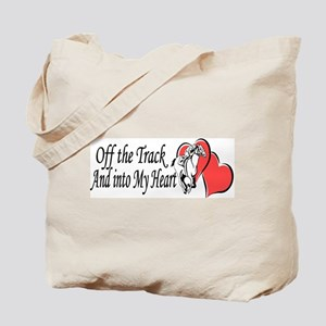 Off The Track and Into My Heart Tote Bag