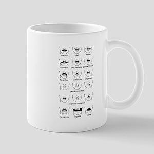 Moustache Chart Black Mug