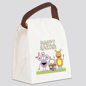 Monster Happy Easter Canvas Lunch Bag