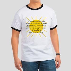 Positive Attitude Ringer T-Shirt