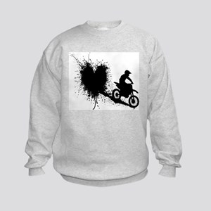 splatter heart Sweatshirt