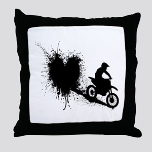 splatter heart Throw Pillow