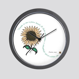 Create in me a pure heart Wall Clock