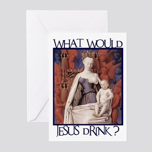 What Would Jesus Drink? Greeting Cards (Package of