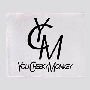 You Cheeky Monkey Throw Blanket